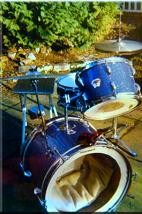 Graham Collins - 1976, The first drum kit - a Del Rey from Japan
