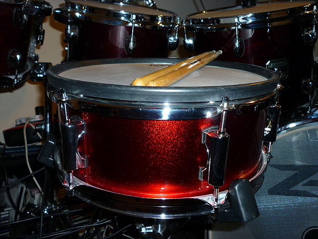 Jobeky 12 inch Stealth Snare Drum in Red Sparkle