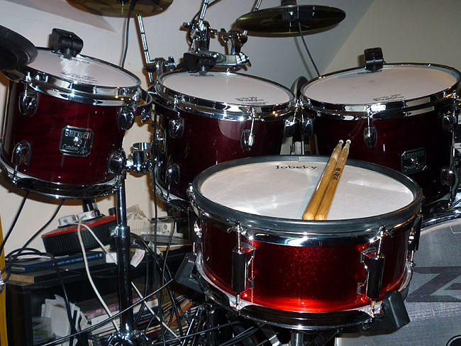 Gretsch Catlina Kit and Jobeky 12 inch Stealth Snare Drum