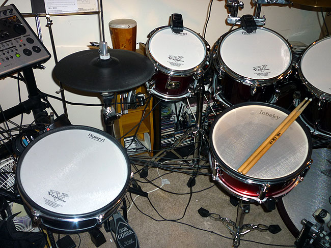 Roland PD-125 and Jobeky 12 inch Stealth Snare Drum in Red Sparkle