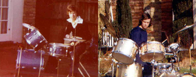 Graham Collins 1976 and 1977 Dely Rey and Beverley Drum Kits