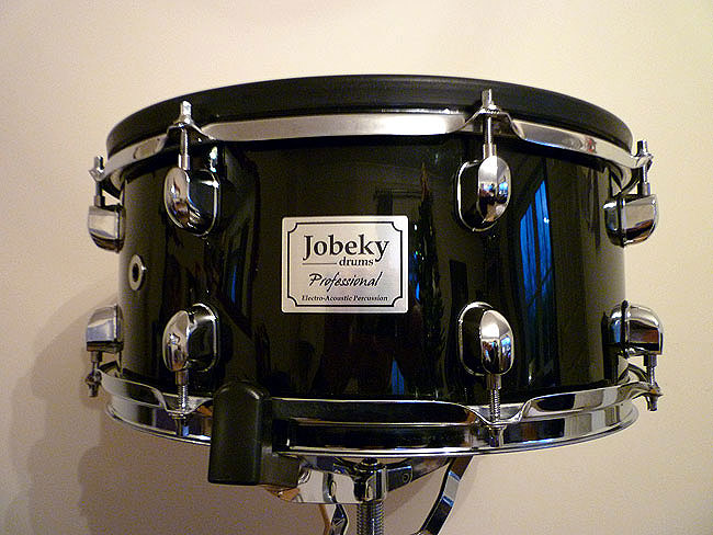 Jobeky 14inch Custom Snare Drum in Piano Black