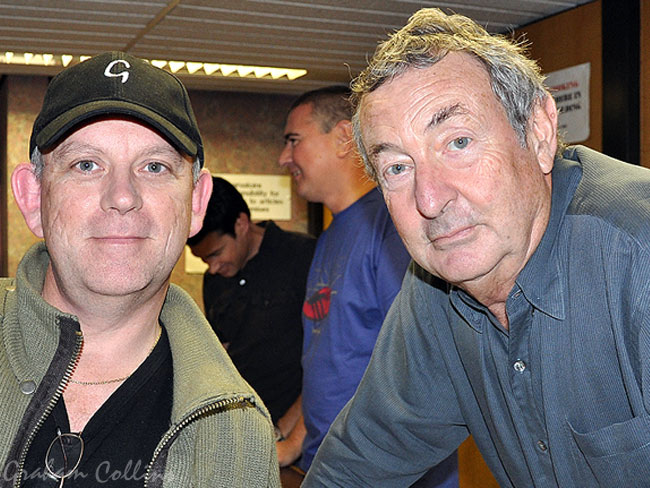 Graham Collins With Nick Mason Of Pink Floyd