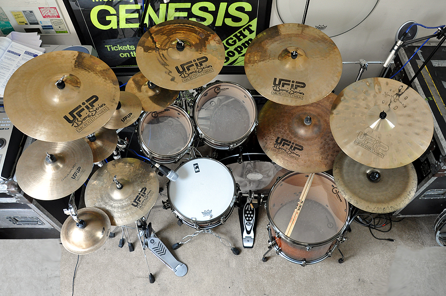 Ex Chris Adler Mapex Black Panther Blaster Kit - UFIP Cymbals - August 2011