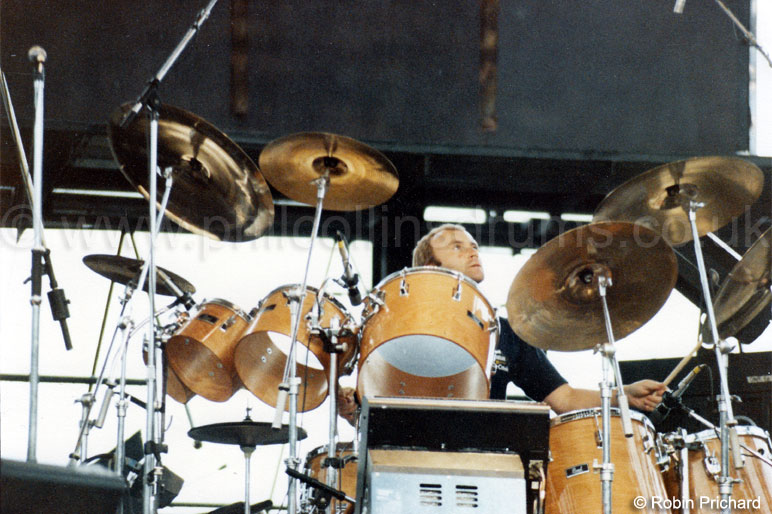 Phil Collins Pearl BLX  Birch Custom Concert Tom Kit - Genesis Soundcheck, New York 1982 - Image © Robin Prichard