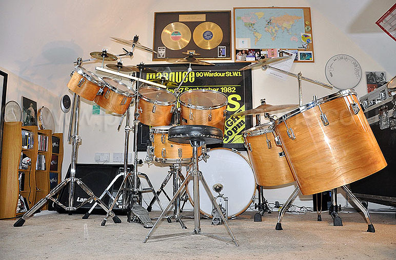 Phil Collins Pearl BLX  Birch Custom Concert Tom Kit - Image © Graham Collins