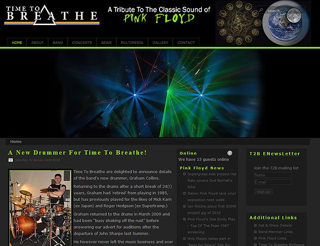 New Time To Breathe Website